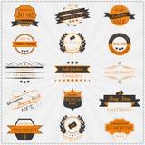 Raccolta delle etichette d'annata e dei distintivi di vendite illustrazione di stock