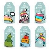 Raccolta delle etichette di Natale illustrazione vettoriale
