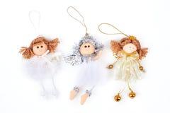 Raccolta delle figurine di angeli di Natale Fotografia Stock