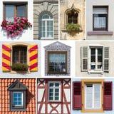 Raccolta delle finestre tedesche Fotografie Stock