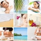 Raccolta delle foto circa le opportunità di ricreazione e di massaggio in Tailandia Fotografie Stock