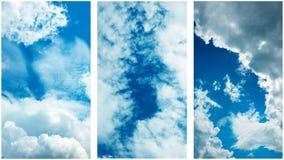 Raccolta delle foto del cielo Immagine Stock