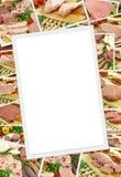 Raccolta delle foto di carne cruda Immagini Stock
