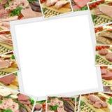 Raccolta delle foto di carne cruda Fotografie Stock Libere da Diritti