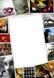 Raccolta delle foto di carnevale Fotografia Stock