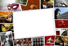 Raccolta delle foto di carnevale Immagini Stock