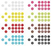 Raccolta delle icone (bottoni) Illustrazione di Stock