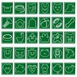 Raccolta delle icone degli animali Immagine Stock