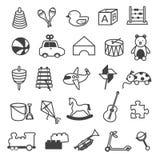 Raccolta delle icone dei giocattoli Fotografia Stock Libera da Diritti
