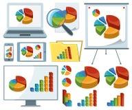 Raccolta delle icone dei grafici Immagine Stock