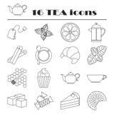 Raccolta delle icone del tè Tempo del tè royalty illustrazione gratis