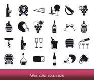 Raccolta delle icone del vino Fotografia Stock Libera da Diritti