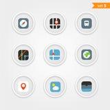 Raccolta delle icone dell'interfaccia di colore Fotografie Stock