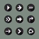 Raccolta delle icone della freccia Immagini Stock
