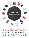 Raccolta delle icone delle frecce Immagine Stock
