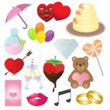 Raccolta delle icone di amore Fotografia Stock Libera da Diritti
