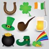 Raccolta delle icone di giorno della st Patricks Fotografie Stock