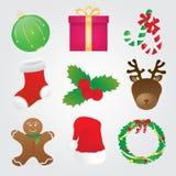 Raccolta delle icone di Natale Immagini Stock