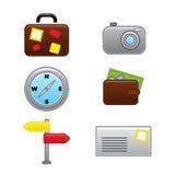 Raccolta delle icone di vacanza di viaggio di web Fotografia Stock
