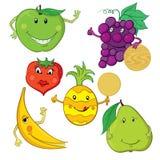 Raccolta delle illustrazioni della frutta Fotografia Stock Libera da Diritti