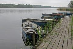 Raccolta delle imbarcazioni a remi su un lago Fotografia Stock Libera da Diritti