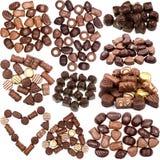 Raccolta delle immagini delle caramelle di cioccolato Immagine Stock