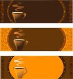 Raccolta delle insegne del caffè impostate Fotografia Stock Libera da Diritti