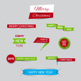 Raccolta delle insegne di Natale e delle insegne del nuovo anno Immagini Stock Libere da Diritti