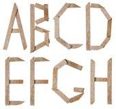 Raccolta delle lettere delle pietre dell'ardesia Immagine Stock