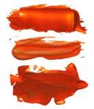 Raccolta delle macchie acriliche astratte dei colpi della spazzola Fotografie Stock