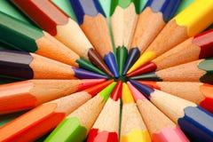Raccolta delle matite differenti, primo piano Fotografia Stock Libera da Diritti