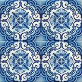 Raccolta delle mattonelle blu dei modelli Immagine Stock