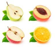 Raccolta delle metà della frutta immagini stock