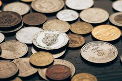 Raccolta delle monete Immagine Stock