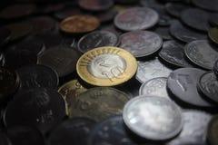 Raccolta delle monete indiane di valuta Immagine Stock