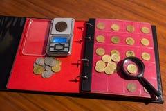 Raccolta delle monete numismatics Immagine Stock Libera da Diritti