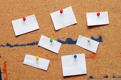 Raccolta delle note in bianco Fotografia Stock Libera da Diritti