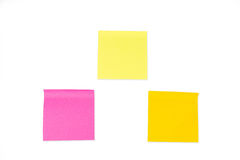 Raccolta delle note di carta su fondo bianco Fotografia Stock Libera da Diritti