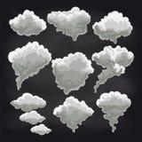 Raccolta delle nuvole di pioggia sulla lavagna Immagine Stock Libera da Diritti