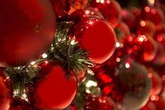 Raccolta delle palle di Natale utili come modello del fondo Immagine Stock Libera da Diritti