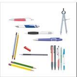 Raccolta delle penne, matite, bussole Immagini Stock Libere da Diritti