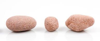 Raccolta delle pietre isolate su bianco Fotografia Stock