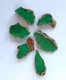 Raccolta delle pietre preziose di cristallo minerali naturali - Chrysoprase Immagini Stock Libere da Diritti