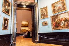 Raccolta delle pitture del museo di Kunsthistorisches con i materiali illustrativi dal quattordicesimo centure, Vienna Fotografia Stock
