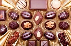 Raccolta delle praline differenti del cioccolato zuccherato Fotografia Stock Libera da Diritti