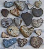 Raccolta delle rocce naturali del cuore Fotografia Stock Libera da Diritti