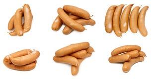Raccolta delle salsiccie isolata Immagine Stock