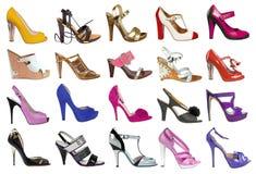 Raccolta delle scarpe delle donne Immagine Stock Libera da Diritti