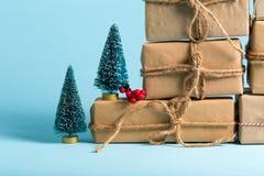 Raccolta delle scatole del regalo di Natale Fotografie Stock Libere da Diritti