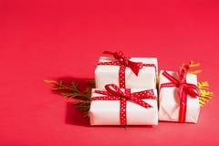 Raccolta delle scatole del regalo di Natale Immagini Stock